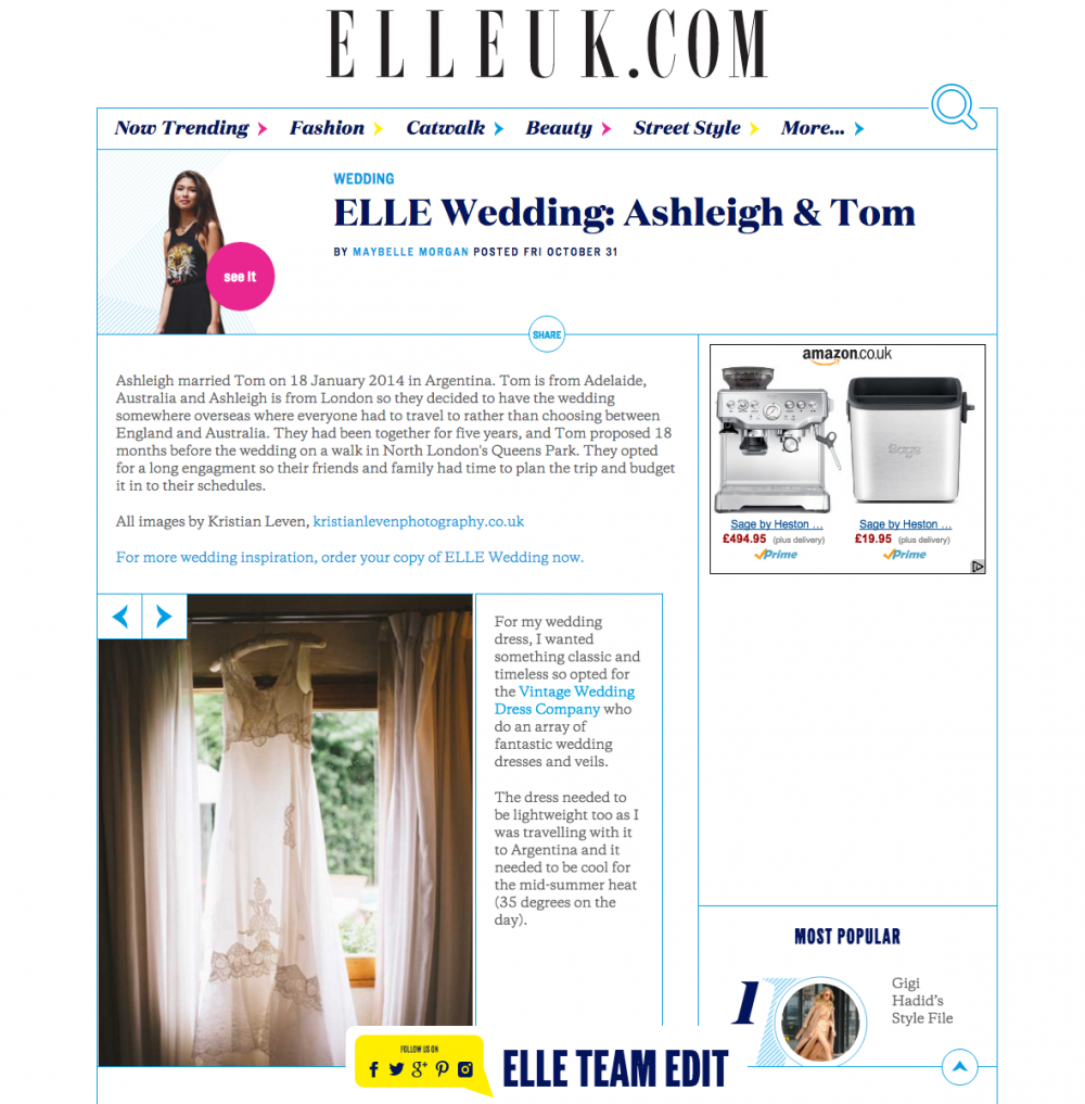 elle magazine mendoza wedding